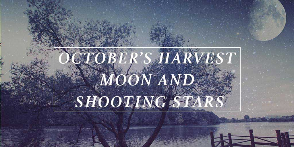 October's Harvest Moon and Shooting Stars